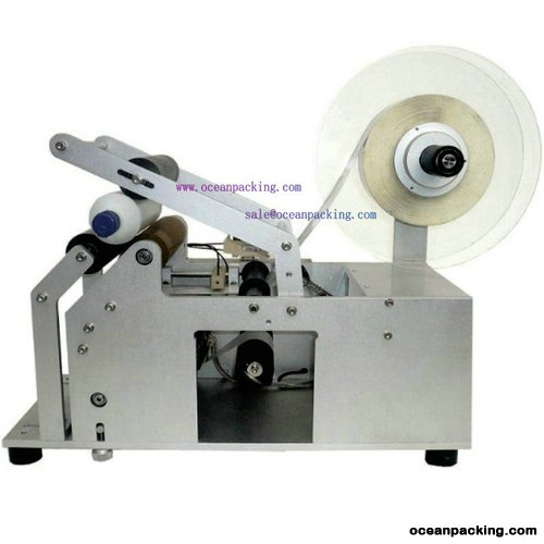 <b>OPLM-R semi automatic round bottle labeling machine</b>