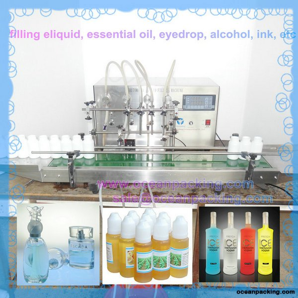 table top automatic filling machine with 4heads