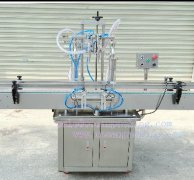 automatic piston pump liquid filling machine with 2heads