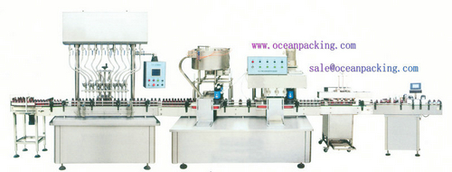 OPGZZ-100 automatic bottle-sending, filling, capping, sealin