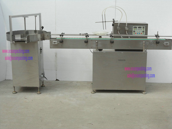 OPHR-II-A automatic filling line with rotate table for small